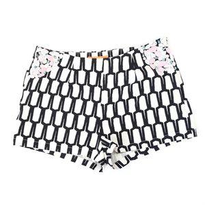 Lulumari Black and White Geometric Shorts